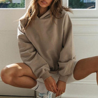 Damen Hoodies Sweatshirts Frauen Übergröße Trainingsanzug Frauen Mit Kapuze Pullover Harajuku Vintage Weibliche Lose Streetwear Francais