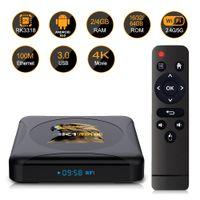 HK1 RBOX R1 Mini TV Boîte TV Android 10 RK3318 Quad Core 4K 5.8g WiFi Smart TV Box USB3.0 Google Play Store Set TV Coffret
