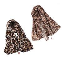 180x90 cm donne ragazze caduta sciarpa invernale sciarpa retrò animale leopardo animale stampa scialle calde con nappe corte coperta solare oversize coperta con coperta 1