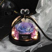 Save Valentinstag Geschenk Exclusive Glas Rose Dome Light Timeless Real Rose Muttertag Geschenk