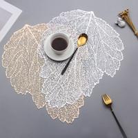 Placemat per tavolo da pranzo sottobicchieri foglia simulazione pianta pvc tazza tavolino tavolino scava fuori cucina cucina casa decorazione regali rra3857