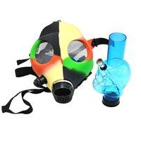 Maschera antigas Tubo in silicone con fumo acrilico Bong solido Camo colori Design creativo Design DABBER PER COSPLATE DI CONCENTURATORE DI CONCENTURATORE HERB