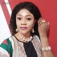 Fani Dubai Oro Colorido Joyería Conjunto Marca Nigeria Boda Mujer Accesorios Accesorios Joyería Conjunto Africano Beads Nupcial