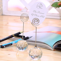 Crystal Ball Label Holder Wedding Romantic Seat Card Busines...