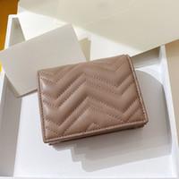 السيدات محافظ عارية جلد حقيقي مارمونت قصيرة المال كليب سستة المحفظة بطاقة الائتمان حامل بطاقة عملة محفظة بورفوجلي دونا دي ماركا دي لوسو