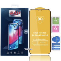 9D Couvre-colle plein Couvre-glu Trempé Glass Phone Screen Screen Protector pour iPhone 12 11 PRO Max iPhone XR X XS Max Samsung A10S A20S A30S A40S A50SS