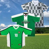 Nigelia 1998 Retro Nigeres Okocha Classic Soccer Jersey 1994 1996 Amokachi Kanu West Yekini Oliseh древняя футболка