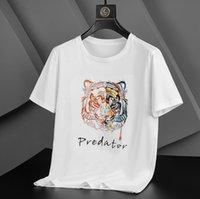 Puseite New Tiger Head T-Shirt 2021 Estate a metà manica Pure Mercerrized Trend Trend Ricamo