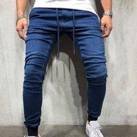 رجل جينز الأزياء نمط العادية الأزرق تمتد الدنيم السراويل الكلاسيكية الرجال السراويل الملابس عارضة الذكور الجينز