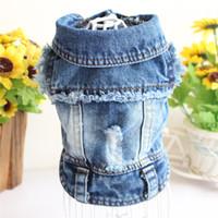 Vêtements de vêtements pour animaux de compagnie Vêtements de chien pour petits chiens Cool Black Jeans Veste pour Bulldog French Bulldog Denim Coat Outfit pour Chihuahua 15