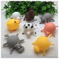 Lindas Niños Animales Globo Toys Squisishys Toys TPR Alivio de estrés Animales inflables Juguetes Ejercicios de Globo Squereve Pelota para niños y adultos