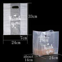 Danke Kunststoff-Geschenk-Tasche Brot-Aufbewahrungstasche mit Griff-Party-Hochzeits-Plastik-Candy-Kuchen-Geschenk-Taschen