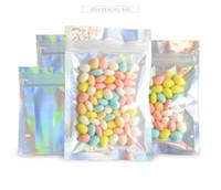 Resellable olor bolsas a prueba de bolsas papel bolso holograma bolsas reclumables para almacenamiento de alimentos en stock Envío rápido
