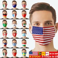 US акции американских национальных флагов для лица для взрослых на велосипеде на открытом воздухе против пыли ветрозащитная моющаяся многоразовая настраиваемая маска для унисекс