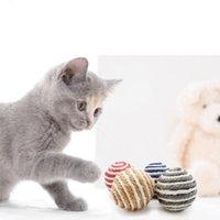 Gato brincar mastigando brinquedo sisal palha gato pet corda weave esfera esfera esfera gatos produtos para animais de estimação cor aleatória JK2012PH