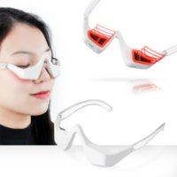 Massageador de olho 3D Terapia de luz vermelha Apertar a pele do dispositivo de cuidado do olho Device Círculos escuros Removedor de envelhecimento