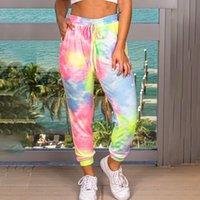 التعادل صبغ 3d مطبوعة sweatpants الأزياء المتناثرة عداء ببطء السراويل الملونة مخدر المسار السراويل سليم الشارع الشهير النساء السراويل # 3 201106