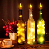 Szybka dostawa 10x Ciepłe butelka wina świeca kształt światła 20 LED LED Night Fairy Light Lampka
