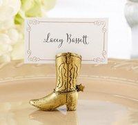 200pcs Western Country Cowboy Boot Place Tarjetas Titulares de la boda Decoración Regalos Fiesta Mesa Suministros SN1793