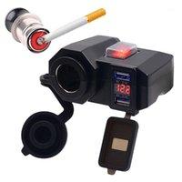 방수 오토바이 12V GPS 담배 라이터 듀얼 USB 전원 소켓 충전기 GR1