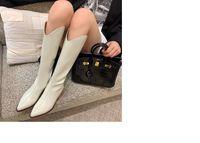 Mükemmel Paris Fransa Isabel Ayakkabı Denzy Süet Kovboy Çizmeler Marant Tarzı Diz-Yüksek Batı-İlham Dikiş Buzağı Deri Çizmeler Ufuk