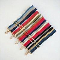 Farbige Gürteltaschen Gurtzubehör für Frauen Regenbogen Einstellbare Schulteraufhänger Handtasche Dekorative Griffband Tasche 120 * 5 cm