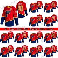 St. Louis Blues 2021 Retro Retro Jersey 90 Ryan O'Reilly 91 Vladimir Tarasenko 47 Torey Krug 50 Binnington Hockey Jerseys