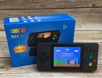 좋은 K8 휴대용 복식 핸드 헬드 TV 비디오 게임 콘솔 미니 휴대용 핸드 헬드 게임 상자 500 1 아케이드 플레이 핸드 헬드 게임 플레이어