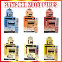 Bang XXL Jetable Vape Stylo Cigarettes électroniques Dispositif 800mAh Batterie 6ml Pods vides Vapeurs originales 2000 Kit de bouffées en gros