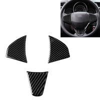 3 en 1 autocollant décoratif à la fibre de carbone de voiture de carbone pour Honda Fit gauche et droite Universal