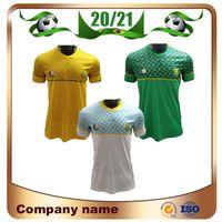 20/21 África do Sul National Soccer Jersey 2021 África do Sul Home Percy Tau Camisa de Futebol Curta Manga Away 3rd Futebol Uniformes