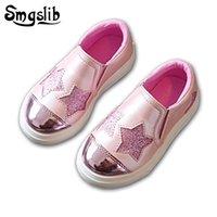 Smgslib Çocuk Ayakkabı Kızlar Casual Düz Gümüş Pembe Çocuklar Rahat Ayakkabılar Toddler Kız Ayakkabı Yaz Moda Eğitmen Erkek Sneakers Y200103