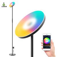 Lámpara de pie LED moderna Smart WiFi Light Light RGB Dimmable LED Esquina de la esquina Trabajo con Google Home Alex