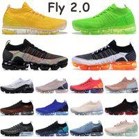 Fly 2.0 Mens Running Shoes Triple Negro Multi Color Amarillo Volt MANGO TIGER RACER TRABAJO AZUL Blanco Puro Platino Pure Sneakers