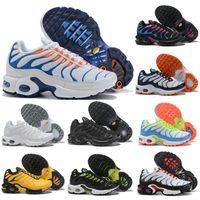 Nike Air TN Plus 2020 Çocuk Atletik Ayakkabı Çocuk Basketbol Ayakkabı Kurt Gri Toddler Spor Sneakers Erkek Kız Bebek Yürüyor Boyutu 28-35