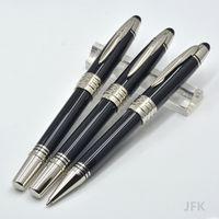 Горячие продажи JFK черный металлический шариковой ручкой / роликовый шариковый ручка / фонтан ручка школьные офисные канцтовары классические письма ручки чернил для подарка на день рождения