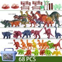 104 шт. DINOSAURS Цифры Модель Игрушка VelociRaptor Brachiosaurus Тиранозавр Модель Игрушки Драконь Джунгли Коллекция Животных Подарки C0119
