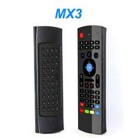 MX3 X8 العالمي 2.4 جرام لاسلكي ماوس الهواء الدوران الاستشعار مصغرة لوحة المفاتيح التحكم عن بعد لجهاز الكمبيوتر الروبوت التلفزيون مربع على الوجهين