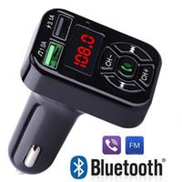 FM 어댑터 A9 블루투스 자동차 충전기 FM 송신기 듀얼 USB 어댑터 핸드 프리 MP3 플레이어 지원 TF 카드 전화 유니버설