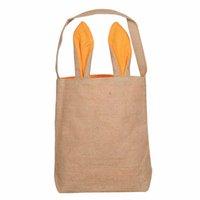 Pasen Bunny Bag DIY Jute Pasen Mand Tote Handtas 14 Kleuren Dual Layer Bunny Oren Design met Jute Doek Materiaal 20 J2