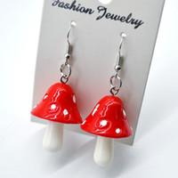 20 Pair Moda Donne Dolce Carino Carino Fatto a mano Simulazione di Plastic Simulazione Mushroom Drop Pendente Orecchino Accessori gioielli Accessori regalo