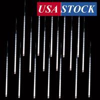Meteor Douche Regenverlichting, 50cm 10 Spiraalbuizen 480 LED's Waterdichte Drop / Icicle Snow Falling Raindrop Cascading String Lights
