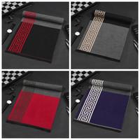 Winter warmer Schal Männer Hohe Qualität Kaschmirschals Vintage Tuch Spots Gestreiften Wrap Shawl Designer Schal Geschenke
