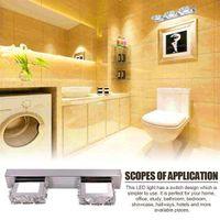 Скидка двойной лампы кристалл поверхность ванной комнаты лампа спальни белый свет серебристый носный арт декор освещения современного водонепроницаемого зеркала стена