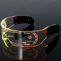 LED 빛나는 안경 크리스마스 파티 바 음악 축제 크로스 테두리 무도회 안경 콘서트 바 KTV에 적합한 빛나는 고글