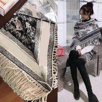 D Maison Designer Fierce Toile De Jouy Scialle in lana di lusso Sciarpa di lusso Designer inverno Ladies Mens Womens Cashmere Sciarpa