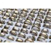 Turnable 2-Couche 50Facturer mixte motif en acier inoxydable argent-or sonneries nouvelles # R156 bijoux