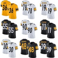 Mens Womens Youth Personalizzato Chase Claypool T.J. Watt Devin Bush Minkah Fitzpatrick James Conner Alejandro Villanueva Jerome Bettis Jerseys
