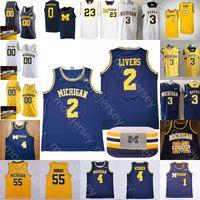 Özel 2020 Michigan Wolverines Basketbol Jersey NCAA Koleji Isaiah Livers Zavier Simpson Rice Webber Levert Crawford Howard Rose Brooks