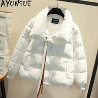 Parkas de mujeres Ayunsue mujer otoño abrigo invierno mujeres de alta calidad algodón acolchado acolchado coreano puffer manteau femme kj6097
